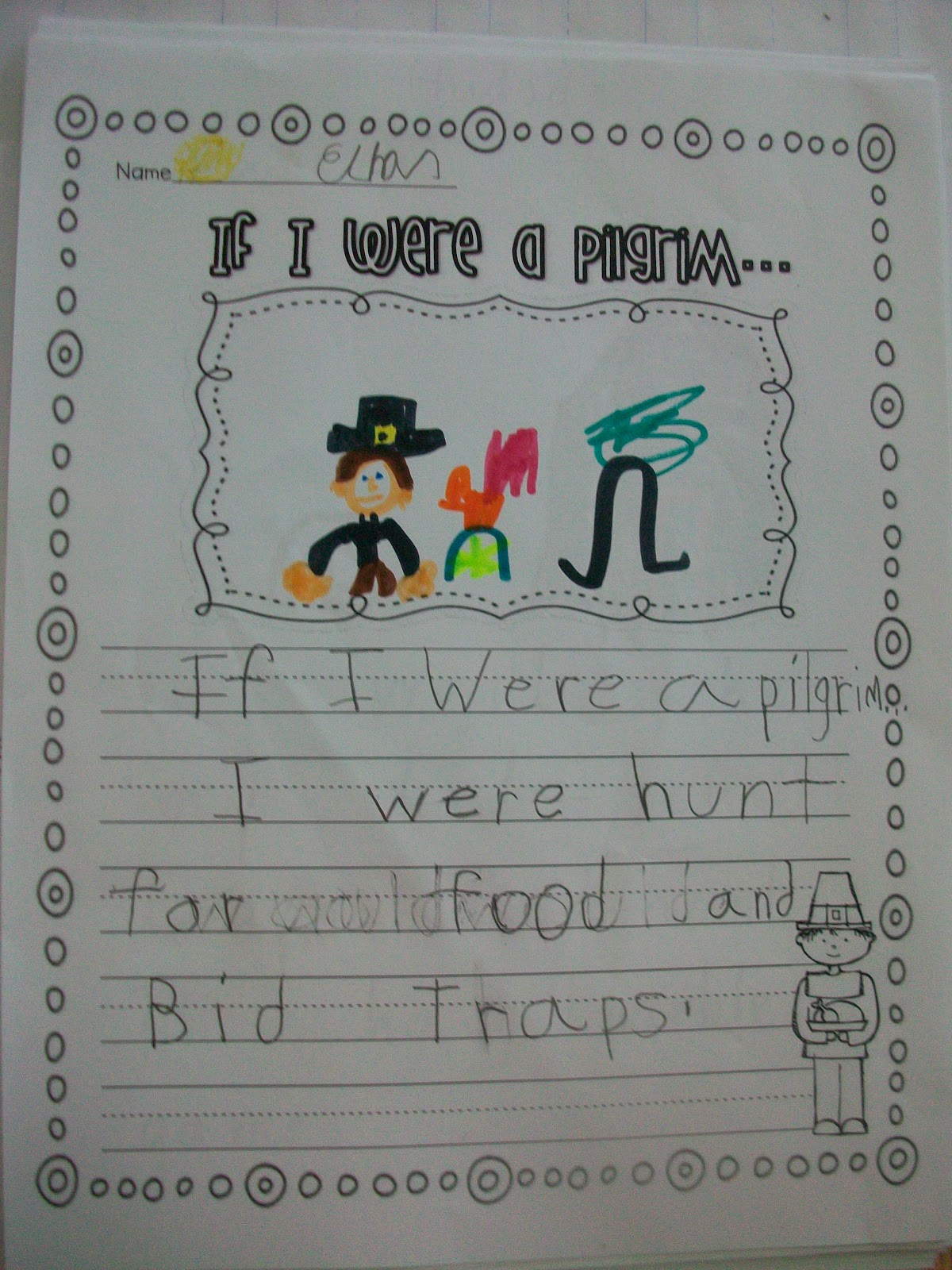 Sarah S First Grade Snippets A Last Minute Thanksgiving