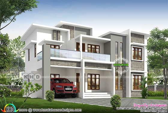 4 bedroom 2117 sq-ft house front elevation