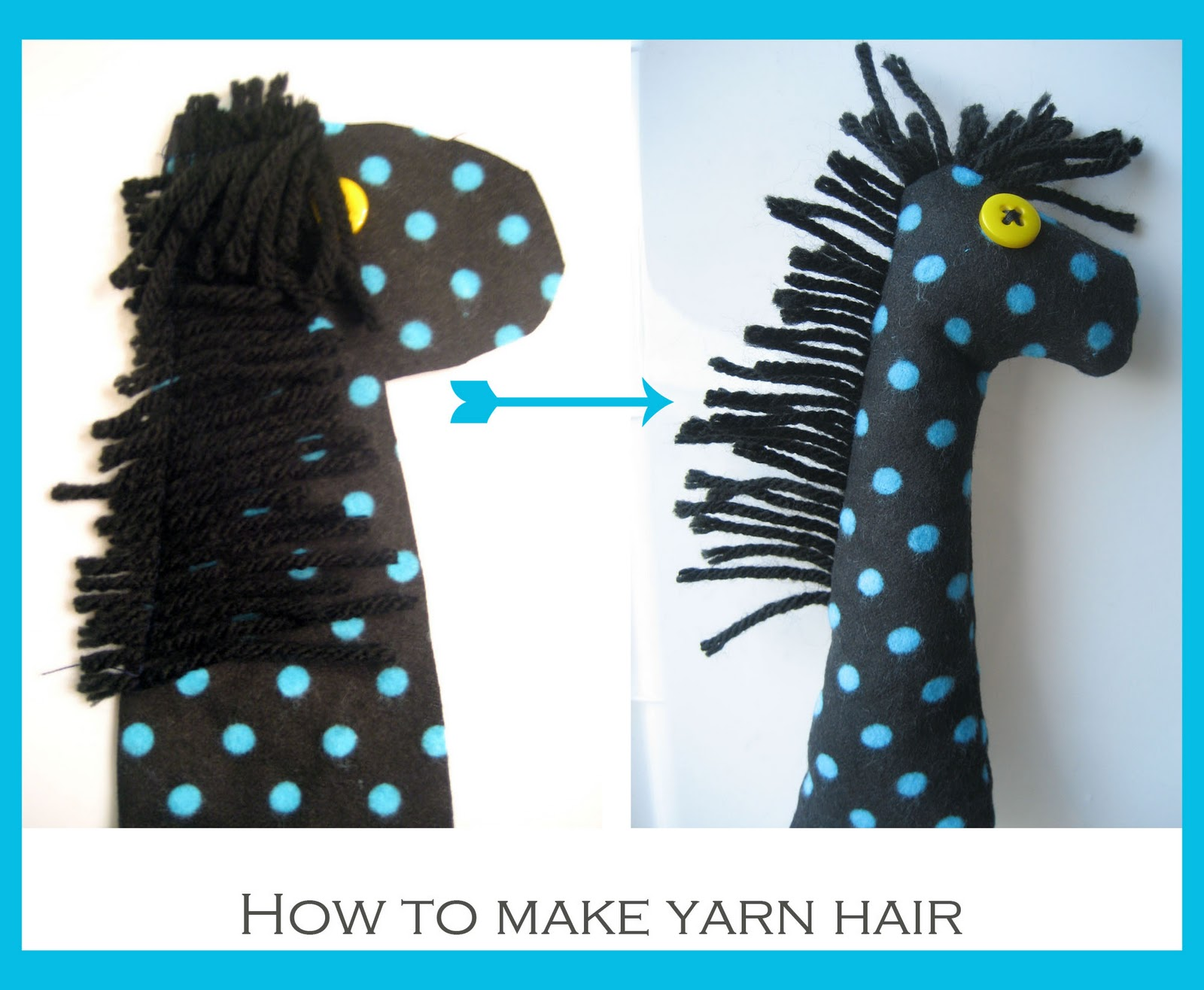 how i keep sane: DIY Baby Crinkle Toy with Yarn Hair