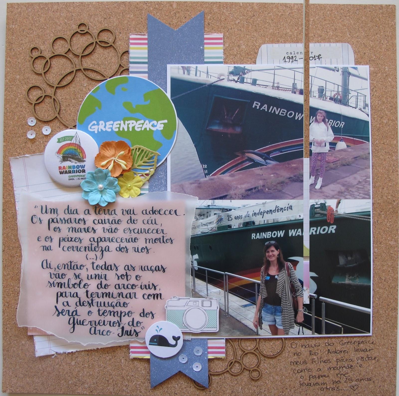 Rainbow Warrior I Ii Y Iii Greenpeace: Scrapbooking By Débora Prass