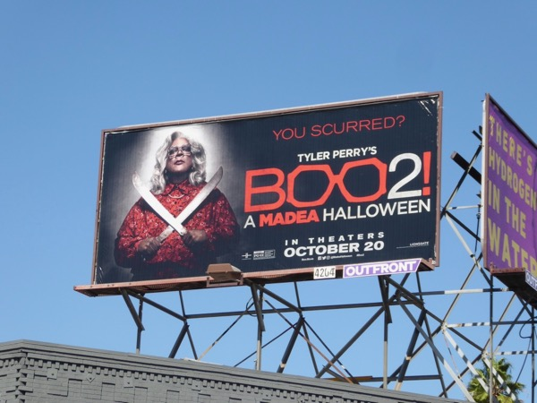 Boo 2 Madea Halloween movie billboard