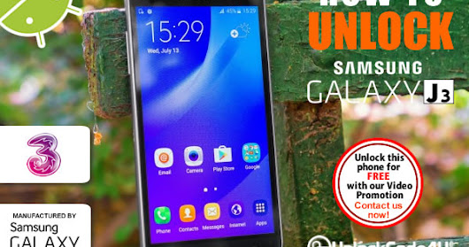Easy Unlock For Samsung Galaxy J3 2017 Locked to Three Network