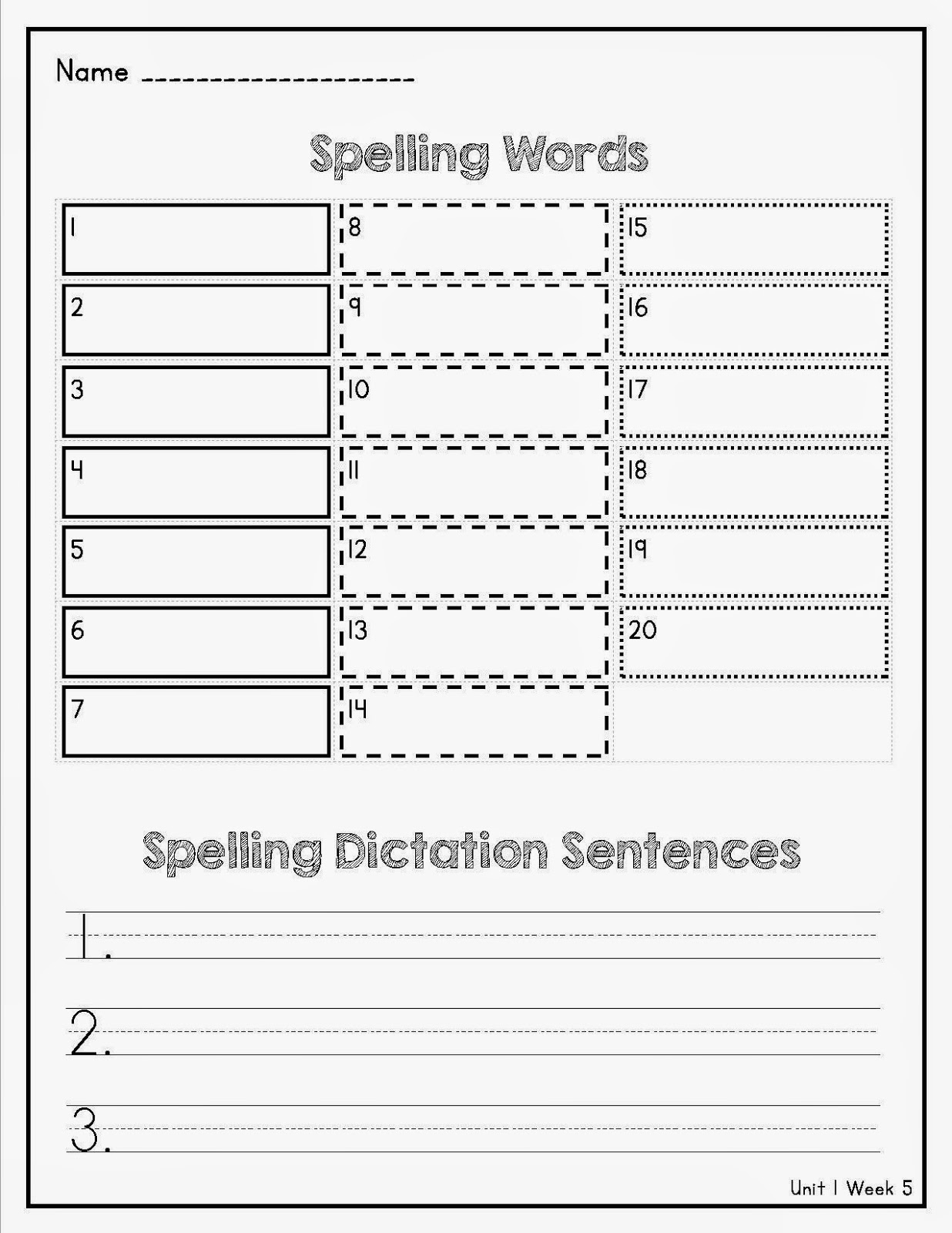 Lory S 2nd Grade Skills Term 1 Spelling Vocabulary Test For Wonders
