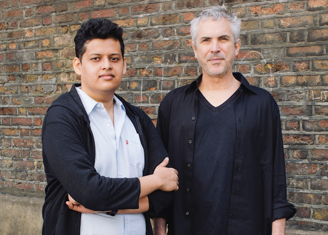 Photo of Director Alfonso Cuarón and Protégé Chaitanya Tamhane (photo: Rolex/©Rolex/Audoin Desforges)