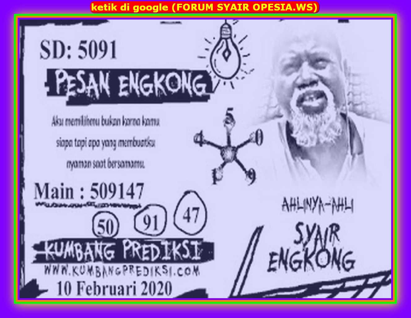Kode syair Sydney Senin 10 Februari 2020 65