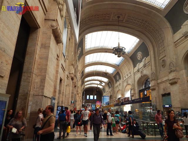 Estación de trenes en Milán