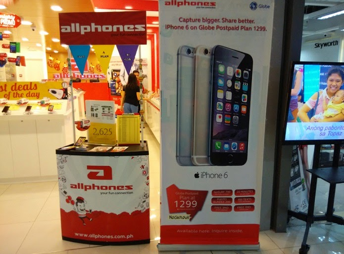 Get iPhone 6 on Globe Plan 1299 WITHOUT Cash-out Thru Allphones