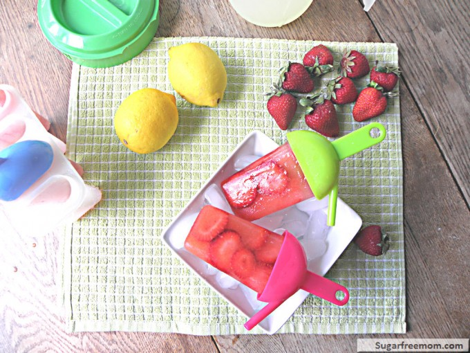sugar free mom get the strawberry lemonade popsicles recipe by sugar ...
