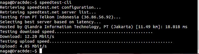Cara Test Kecepatan Internet dengan Speedtest di Terminal