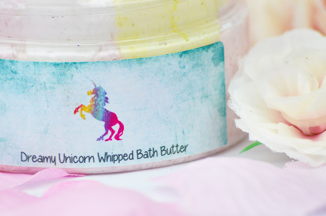 Lalas Cosmetics / Dreamy Handmade Bath and Skincare London Dreamy Unicorn Whipped Body Butter Sugar Scrub Review