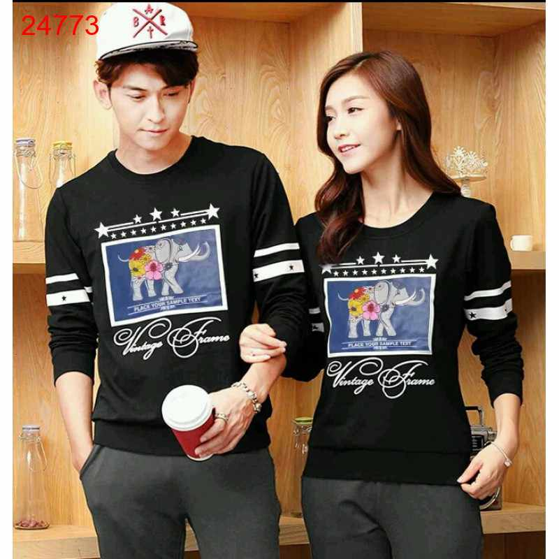 Jual Sweater Couple Sweater Classic Black - 24773