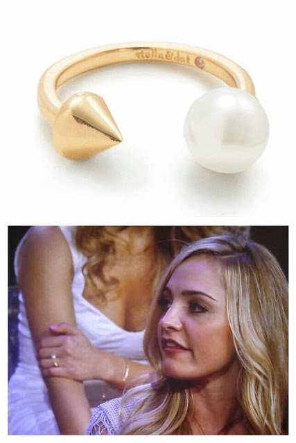 Stella & Dot Pearl & Spike Ring as seen on The Bachelor Women Tell All