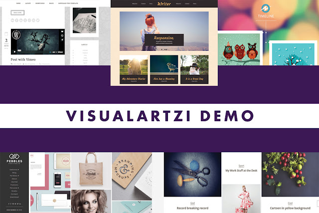 Visualartzi Demo free Blogger Templates collage