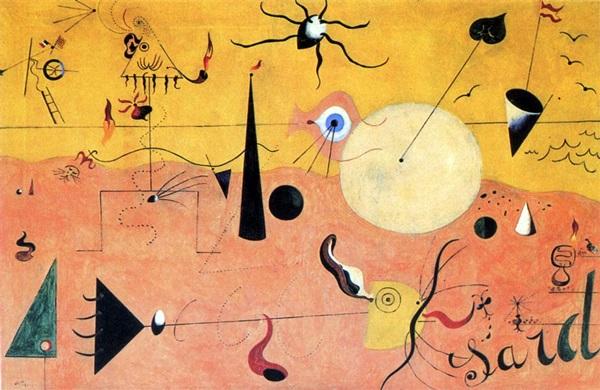 Resultado de imagen de Joan Miró, tierra labrada 1923