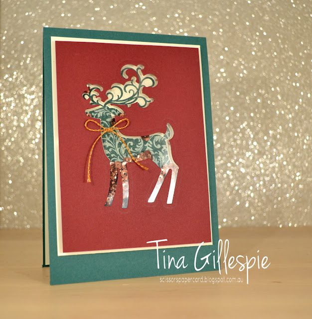 scissorspapercard, Stampin' Up!, Art With Heart, Heart Of Christmas, Dashing Deer, Merry Christmas To All, Detailed Deer Thinlits