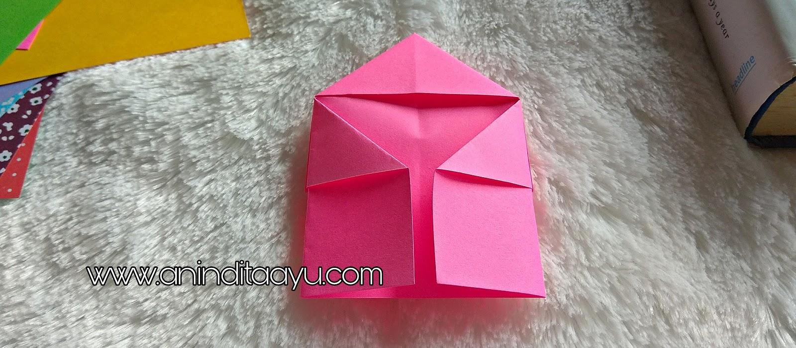 DIY origami pembatas buku