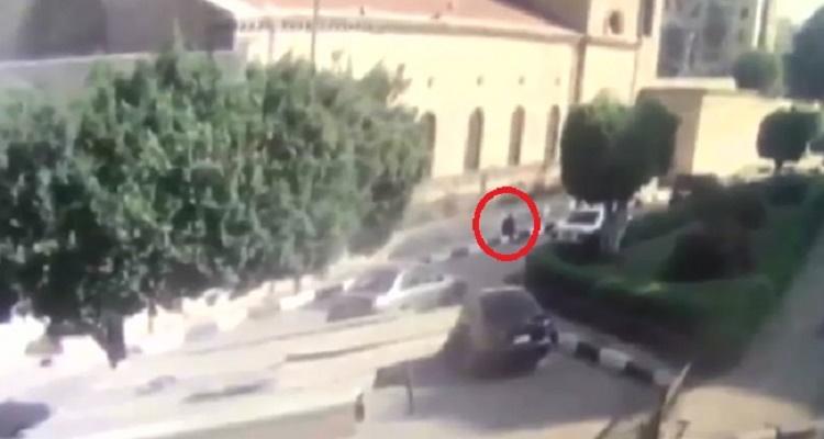 أول فيديو لعملية تفجير الكنيسة البطرسية من كاميرات المراقبة