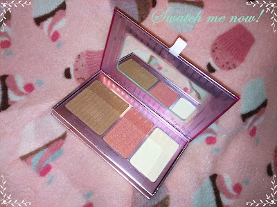 Swatch me now!: · Rosy flush Ckeek palette - Tanya Burr ·