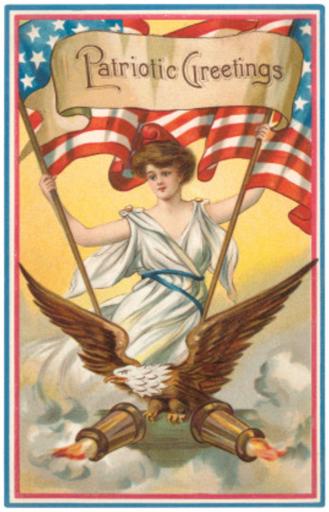 Patriotic Greetings, Columbia and Eagle