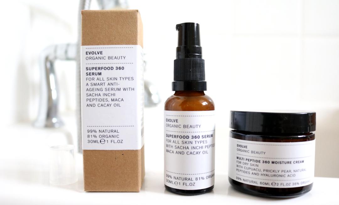 Evolve Organic Beauty Multi Peptide 360 Moisture Cream & Superfood 360 Serum review