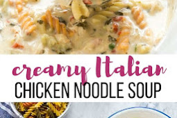 Creamy Italian Slow Cooker Chicken Noodle Soup