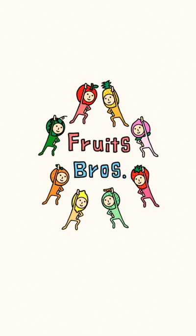Fruits Brothers! wall paper type A