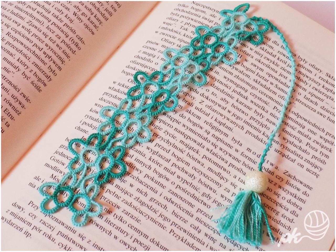 frywolitka, rękodzieło, handmade, zakładka do książki