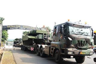 MBT Leopard 2Ri Diusung Transporter Iveco