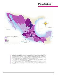 Apoyo Primaria Atlas de México 4to Grado Bloque IV Lección 12 Manufactura