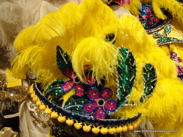 feather headdress at the Mardi Gras Museum of Imperial Calcasieu in Lake Charles, Louisiana