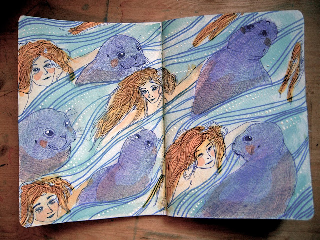 Sketchbook Project: Selkies