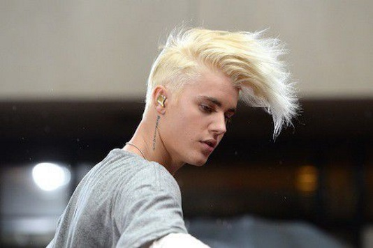 Justin Bieber new hair color