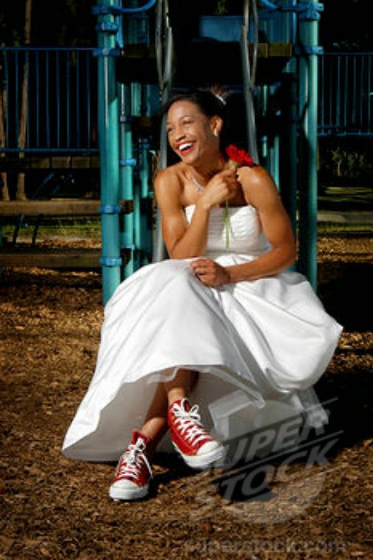 STYLE: Sneakers on a Wedding Dress