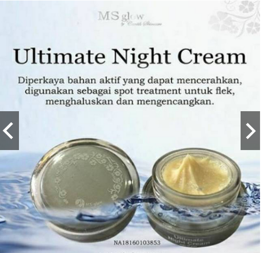 Krim Malam Flek MS GLOW BY CANTIK SKINCARE Ultimate Night