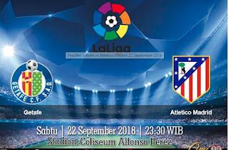 Prediksi Getafe vs Atletico Madrid 22 September 2018