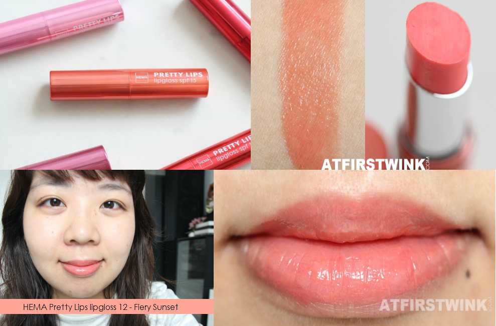 HEMA Pretty Lips lipgloss 12 - Fiery Sunset review