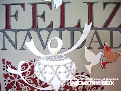 feliz navidad card detail