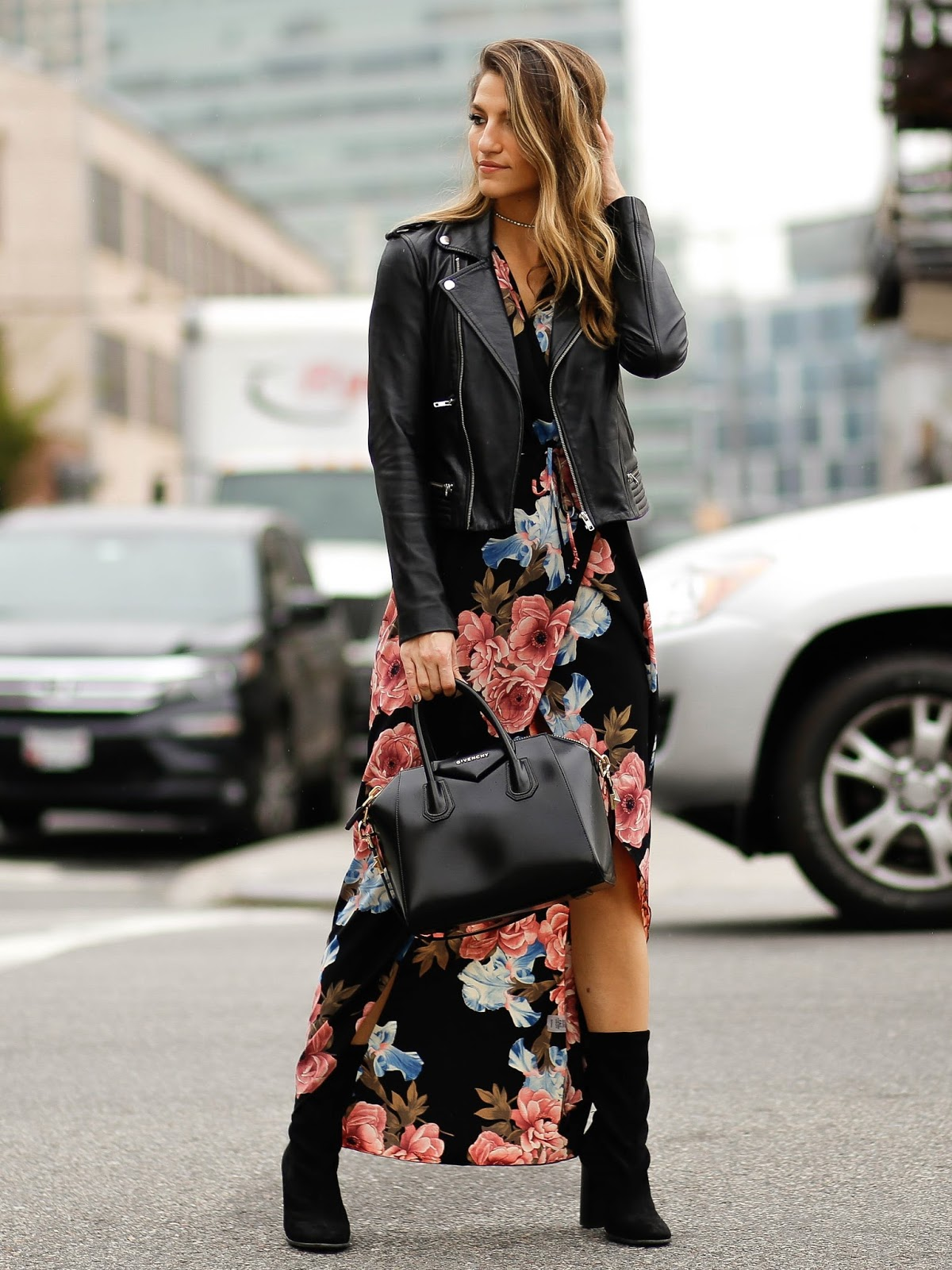 fall florals street style