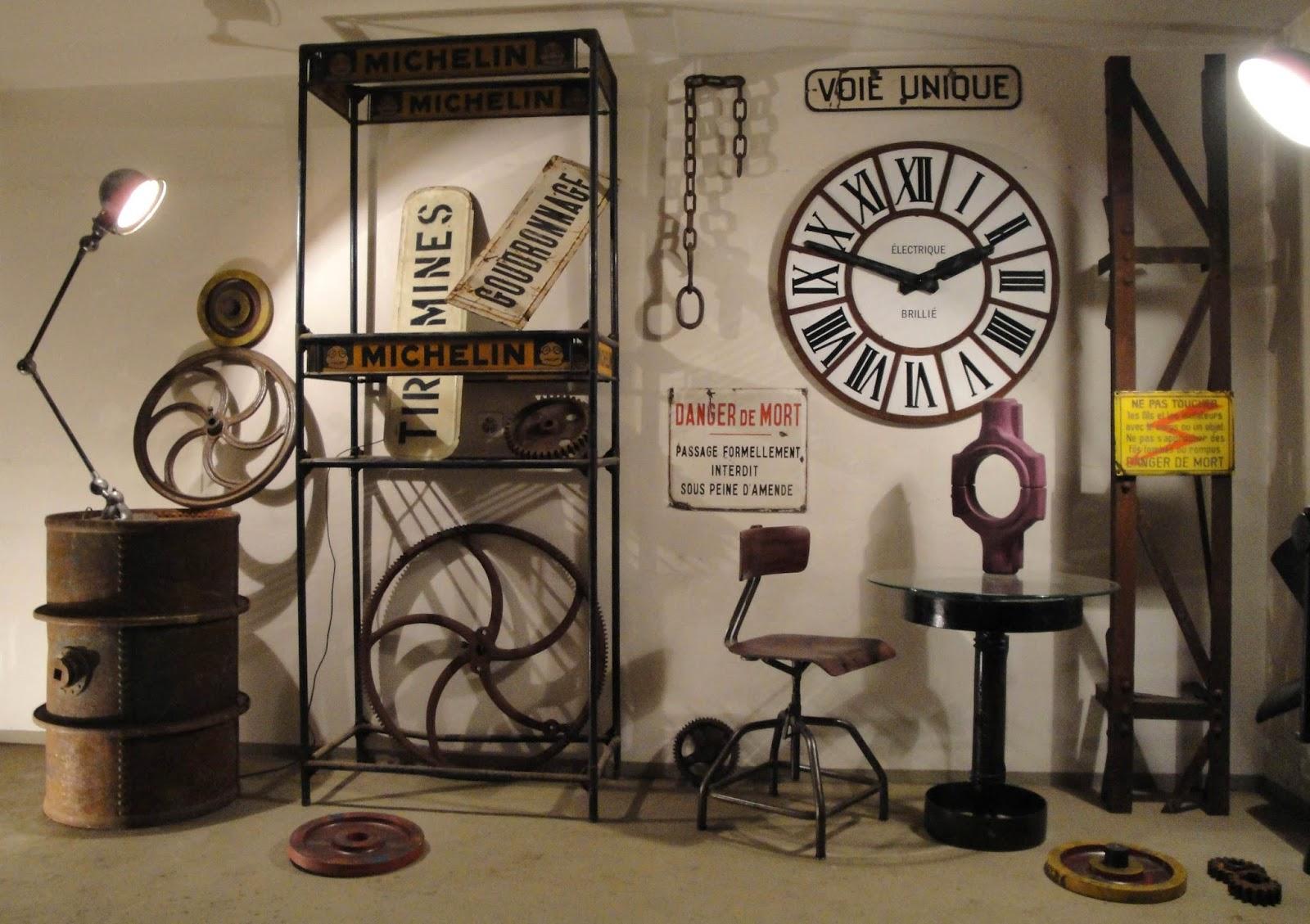 deco recup industriel. Black Bedroom Furniture Sets. Home Design Ideas