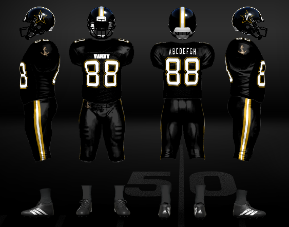 83a785abbfa Vanderbilt Commodores - Football Uniform Concept. I like the current Nike  uniforms for Vandy, but I hate the solid plain pants. So for this concept,  ...