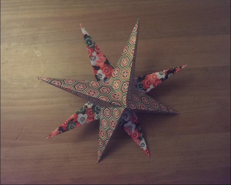diy une toile en origami pour no l. Black Bedroom Furniture Sets. Home Design Ideas