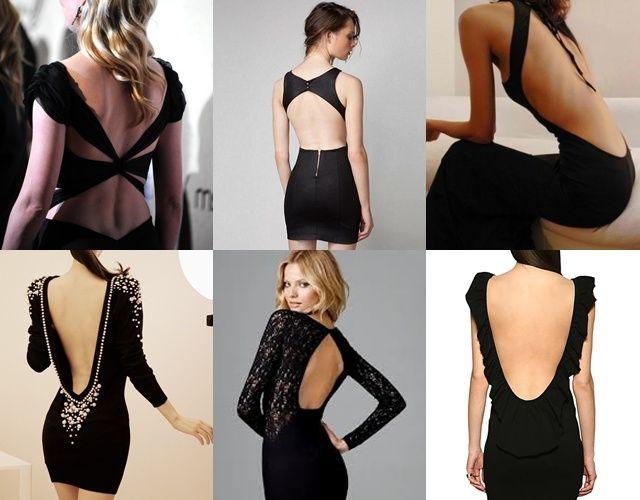 Modelos de vestidos cortos abiertos atras