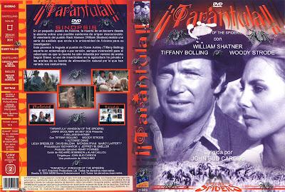 Cover, caratula, dvd: Tarántula (el reino de las arañas)  1977   Kingdom of the Spiders.