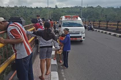 Seorang Perempuan Bunuh diri di Jembatan Tukad Bangkung