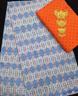 Kain Batik dan Embos 582 Orange