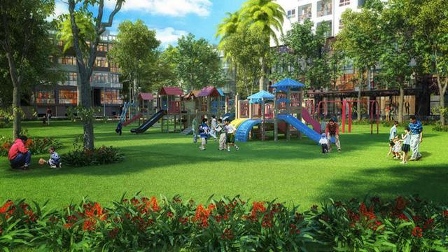 Không gian vui chơi cho trẻ nhỏ tại The Green Daisy