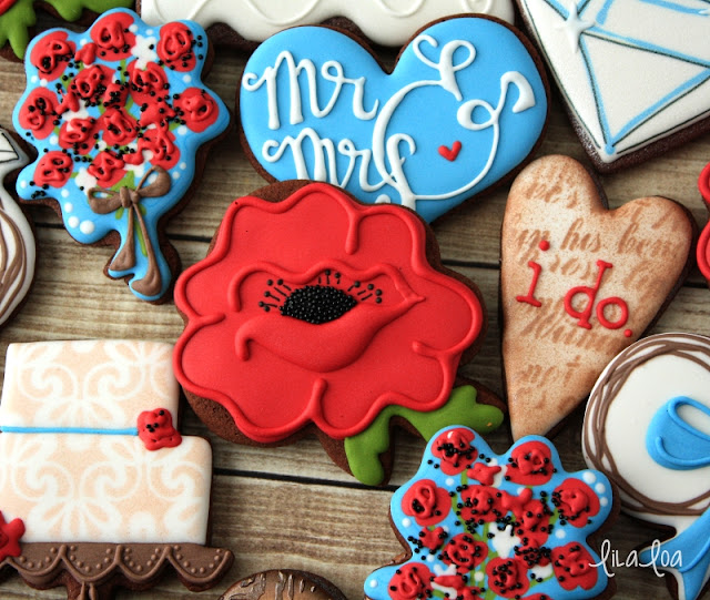 Decorated poppy sugar cookies