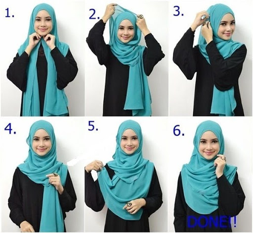 tutorial hijab segi empat untuk wajah bulat terbaru