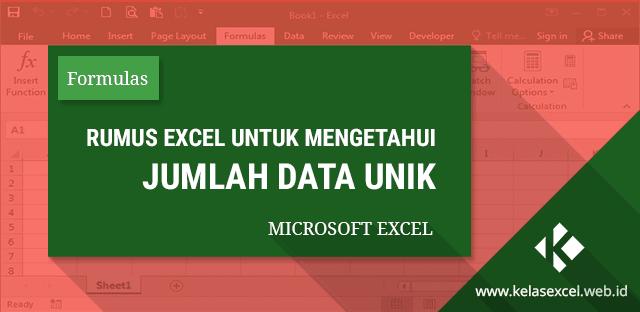 Rumus Excel Untuk Menghitung Jumlah Data Unik
