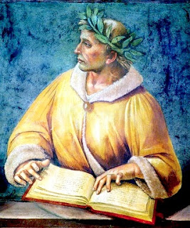 Fresco of poet Ovid